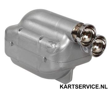 Luchtfilter NOX 30 mm ZILVER met CHROME pijpjes