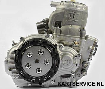TM KZ10C standaard 2017 125cc motor+carburateur/uitlaat/steun