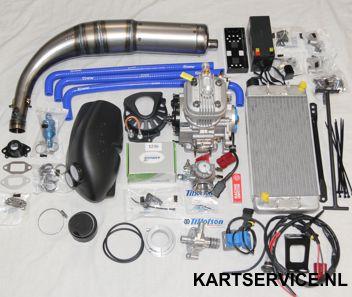 Parilla X30 125cc RL Tag motor set compleet +ELTO nademper