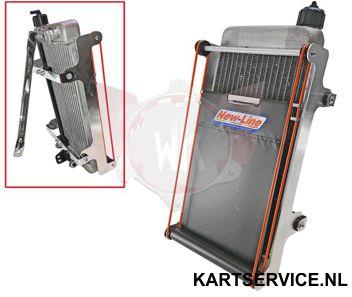 Rolscherm voor IAME X30 radiateur
