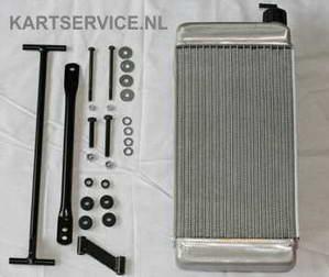 Radiateur IAME 410mm compleet met steun