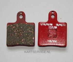 Set remblokken voor 2 ST. VEN05/2000UP rood  SINTER