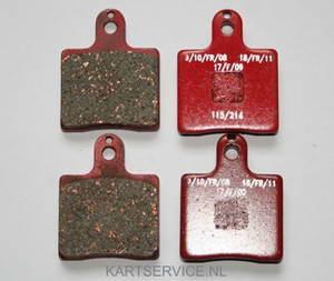 Set remblokken voor 4 ST. VEN05/2000UP rood SINTER