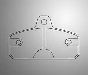 Set remblokken EKS/Kombi/Birel kart rear 16mm nr. -484-