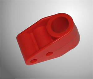 Stuurstang support plastic rood (stuurstangkolom houder)