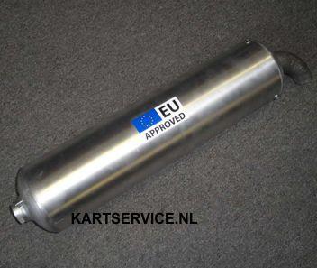 Uitlaatdemper ELTO  Aluminium voor 125cc (EU Approved)