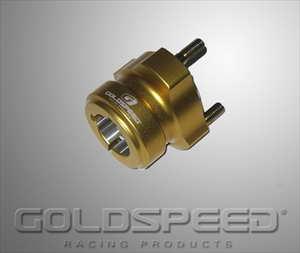 Wielnaaf voor achteras 30x55mm goud GS