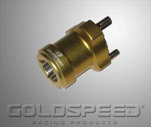 Wielnaaf voor achteras 30x75mm goud GS