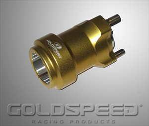 Wielnaaf voor achteras 40x95mm goud GS