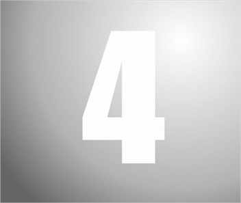 Plakcijfers wit nummer 4