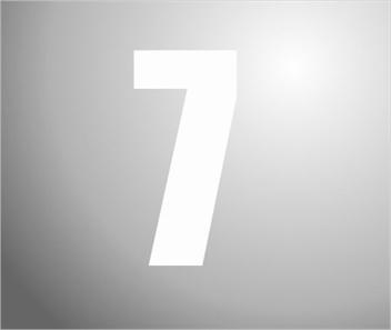 Plakcijfers wit nummer 7