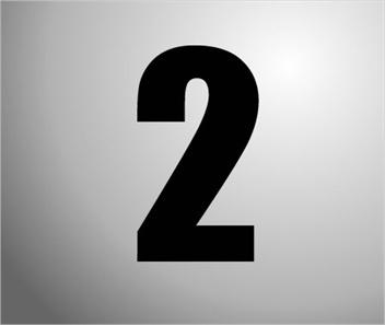 Plakcijfers zwart nummer 2