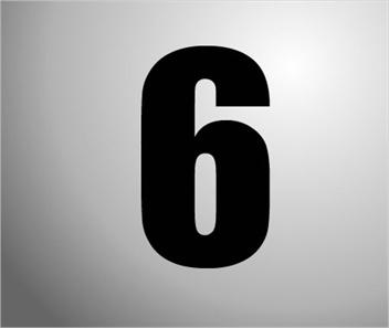 Plakcijfers zwart nummer 6 of 9