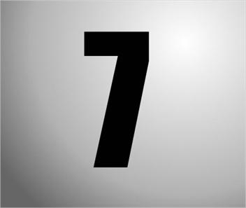 Plakcijfers zwart nummer 7